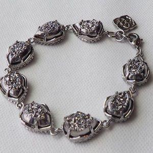RARE Kendra Scott Brynn Bracelet Silver Plat Drusy