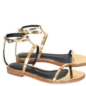 PRICE DROPPED FOR AN HOUR!!!Tibi Metallic Sandals