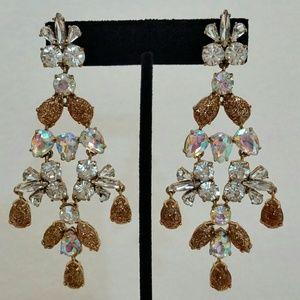 J. Crew Jewelry - J. Crew Crystal Gossamer Statement Earrings NWOT