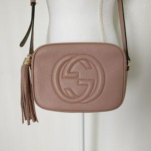 Gucci Soho Disco Dusty Vintage Pink Crossbody Bag