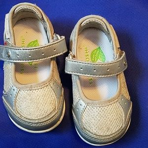 Tsukihoshi Other - Silver shoes with Velcro top strap