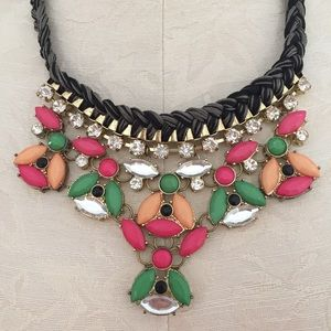 J. Crew Jewelry - J. Crew Statement Necklace Pink and Green
