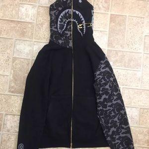 bape Sweaters - A bathing ape Shark Hoodie Bape X Jam Grey Camo 5b129c45bfd0