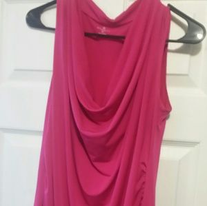 Worthington Tops - Hot pink sleeveless dress shirt