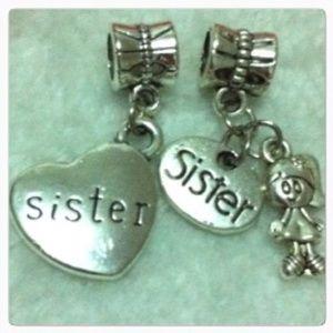 Jewelry - Sister heart dangle charm sets