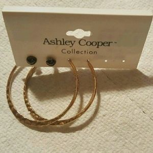 Ashley Cooper Jewelry - Ashley Cooper Gold Hoops & Gem Earrings