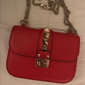 Valentino Handbags - Valentino red leather rockstud bag