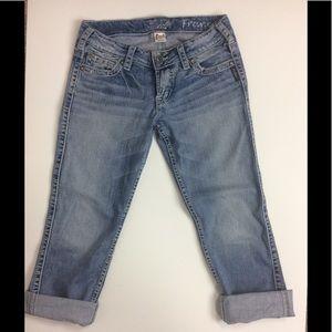 Silver Jeans Pants - Silver Jeans Distressed Frances Capri
