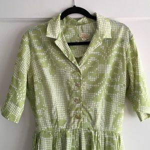  Vintage 50's Crepe House Dress 10/12 