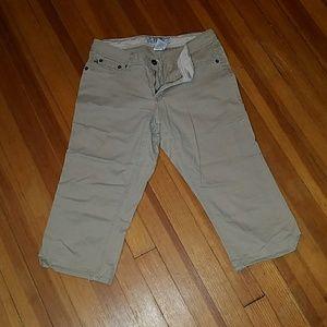17/21 Exclusive Denim Pants - Khaki Capris