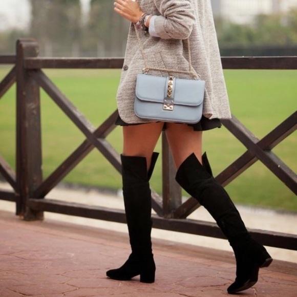 54 zara shoes zara suede leather knee high