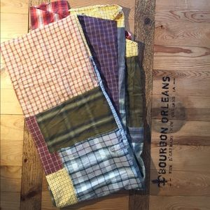 """upcycled Accessories - upcycled plaid scarf 100"""" x 12"""""""