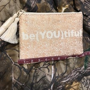 Handbags - be(YOU)tiful make up bag/ pouch NEW w/ tassels