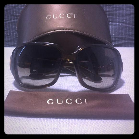 84ff788489 Gucci Accessories - Gucci Brown Bamboo Horsebit Sunglasses gg 2969 s
