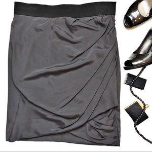 Elizabeth and James Draped Sarong Silk Skirt