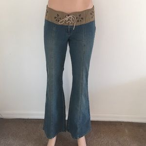 Angels Denim - Great Angel Jean's With Faux Leather Waist Accent