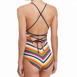 Tory Burch Swim - Tory burch NEW Felix stripe swimsuit Sz SMALL