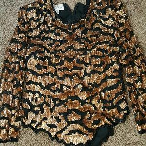 Sequin vintage blouse