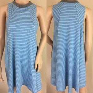 Element Dresses & Skirts - NWT Element striped high neck swing dress