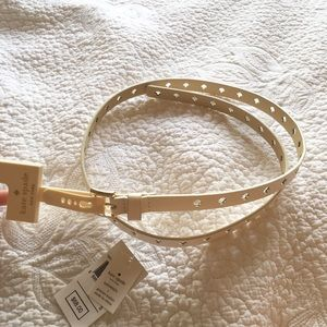 kate spade Accessories - Kate Spade Cream Leather Belt