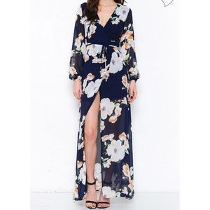 Brand New L'Atiste Navy Floral Maxi Dress