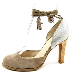 Seychelles Shoes - SEYCHELLES ANTHROPOLOGIE SUEDE ANKLE TIE PUMPS NWT