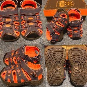 Route 66 Navy & Orange Infant Sandals  Size 4
