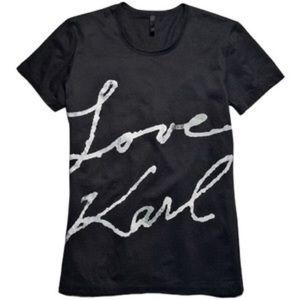 Karl Lagerfeld Tops - Love Karl Black Tee