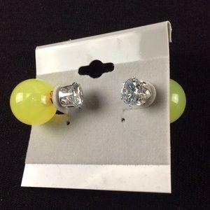 Jewelry - New Yellow Double Ball Stud Earrings