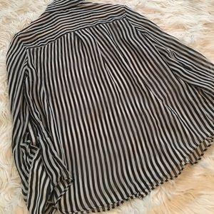 Iz Byer Tops - Black and White Blouse