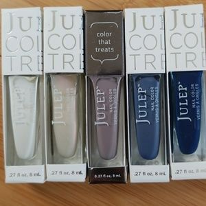 Julep nail polish set of 5 mixed colors