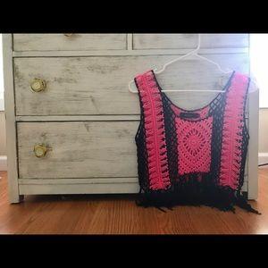 Tops - Boho Fringe Crochet Top