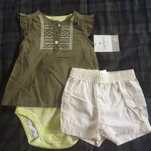 Carter's Other - 3 piece carters baby girl set