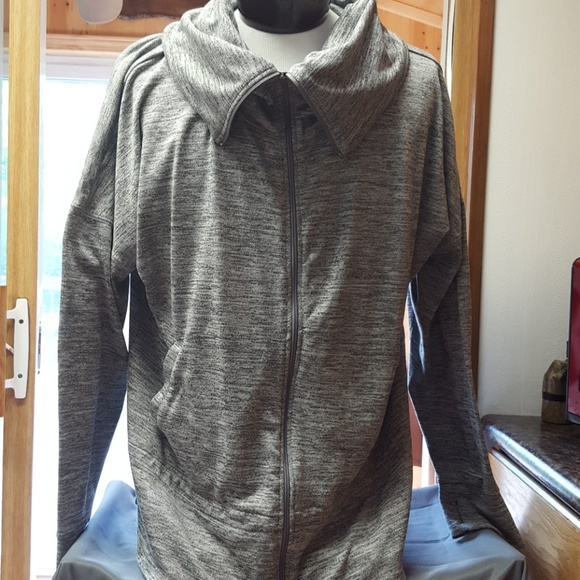 A yoga jacket with zip pockets, thumb holes, and flat lock seams. Ladies Full Zip Hooded Jacket. A tri-blend jacket with front zip, hood, and pockets. Mens Team Wear Jacket. A raglan jacket with side seam pockets, thumb holes, raglan sleeve, and a contrast white zipper. Also available in girls and ladies sizes.
