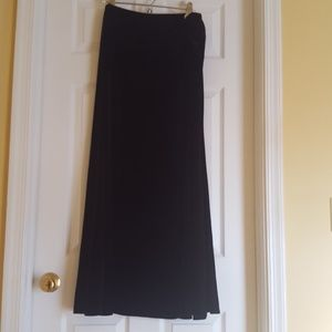 Long Elegant Legs Dresses & Skirts - Black Velvet Skirt