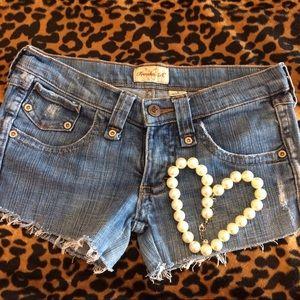 Frankie B. Pants - Frankie B cut off jeans denim shorts distressed 2