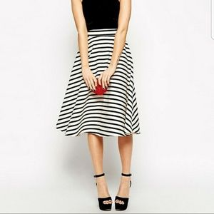 Gorgeous striped midi skirt. A-line very cute ASOS