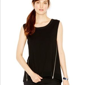 Rachel Roy // Sleeveless Zipper Side Top