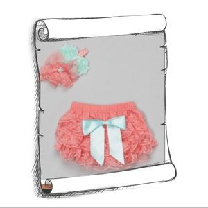 Other - DIAPER COVER AND HEAD BAND