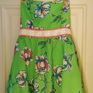 *SOLD* NWT Lilly Pulitzer Green Floral Dress.