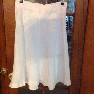 j crew Skirts - Adorable linen white skirt.