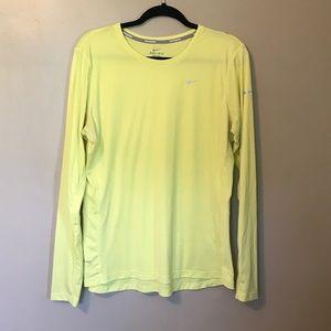 Nike Tops - Nike Running Dri-Fit Long Sleeved Shirt XL Yellow