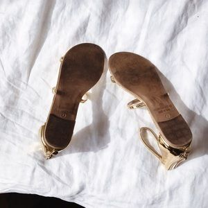 GoJane Shoes - GoJane Triple Whammy Strappy Gold Metallic Sandals
