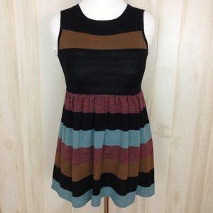 THML Women's Sleeveless Sweater Dress  Striped (S)