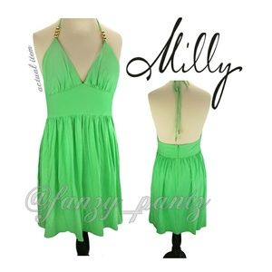 Milly Dresses & Skirts - NWT Milly green halter dress medium
