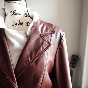 Kirk's Suede Life Jackets & Blazers - Vintage Brick Brown Leather Jacket