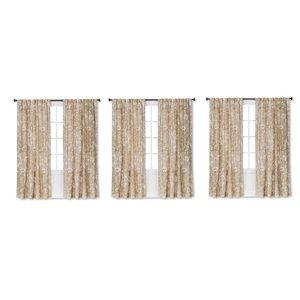 Lot of 4 target threshold curtain panels beige