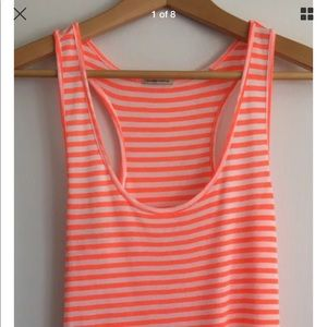 Maison Scotch Tops - Maison Scotch Striped Racer Back Tank Top SZ 2
