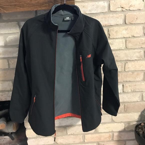 28cf178a6c216 New Balance Jackets & Coats | Windblocker Jacket Black Orange | Poshmark