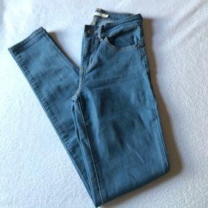 Levi's Denim - Levi's high rise skinny light blue jeans.
